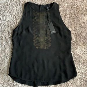 NWT Greylin top with metal detail
